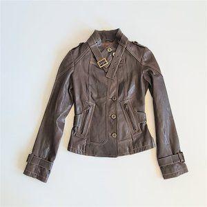 Danier Italian Leather brown jacket.